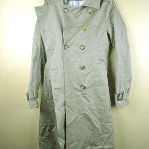 Brooks Brothers Womens Tan 100% Cotton Trench Coat